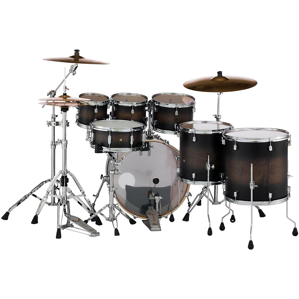 Pearl Decade Maple 7 Piece Shell Pack Satin Black Burst