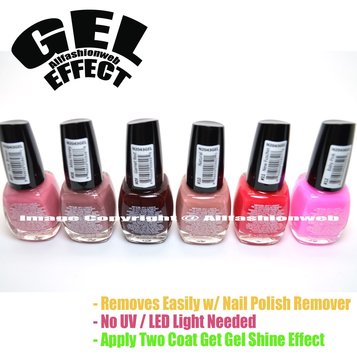 Gel Nail Polish Set With Led Light - Creative Touch