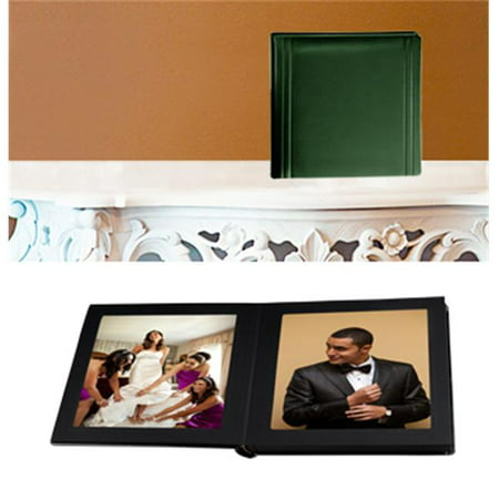 Leather Album Designs CP26031010735B Matted 10X10 Green Faux Leather 35 Pg - 70 Side