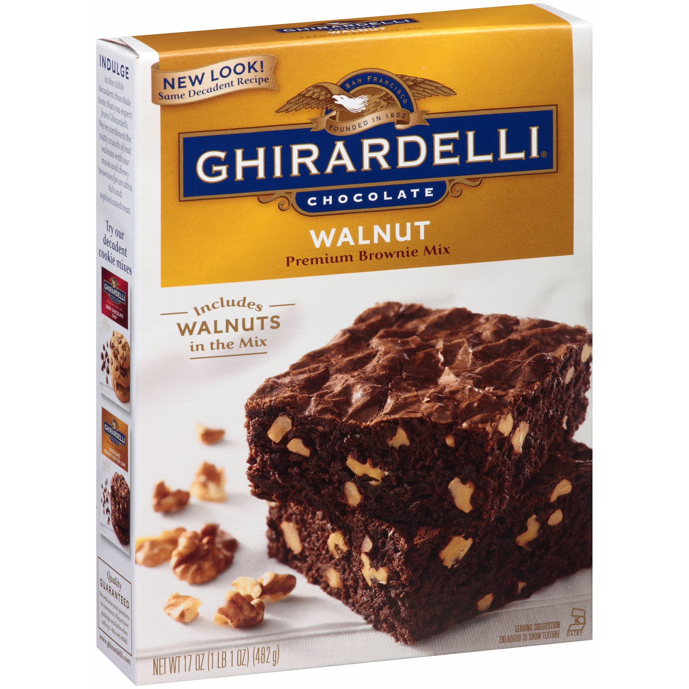 Ghirardelli Walnut Brownie Mix, 17 oz