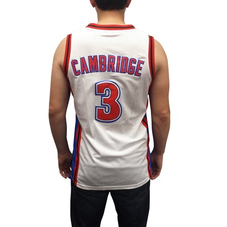 Calvin Cambridge  3 Knights White Basketball Jersey Mike Uniform Costume Movie