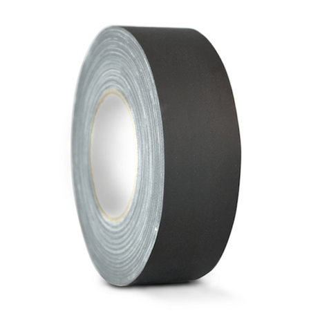 - T.R.U. CGT-80 Black Gaffers Stage Tape with Rubber Adhesive, 2 in. wide x 60 Yards length, 12MIL Thickness (Pack of 1)