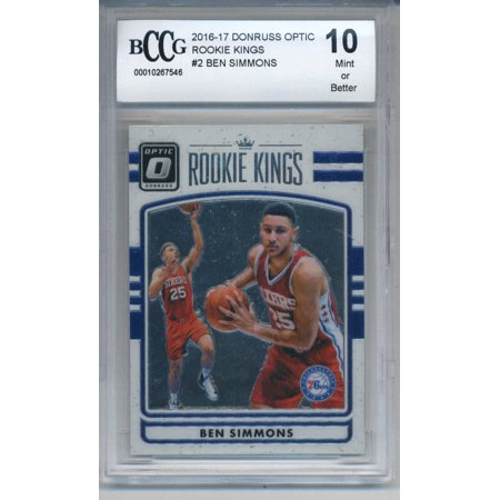 2016 17 Donruss Optic Rookie Kings 2 Ben Simmons Rookie Bccg 10 Mint 76ers