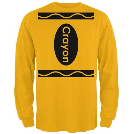 Crayons Costume (Halloween Crayon Costume Mens Long Sleeve T)