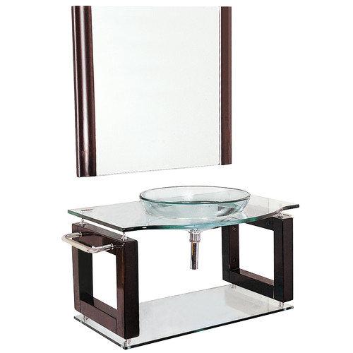 Yosemite Home Decor Transitional 40'' Single Bathroom Vanity Set with Mirror