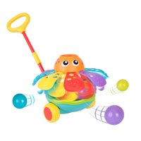 Playgro Push Along Ball Popping Octopus, STEM Toy for a bright future