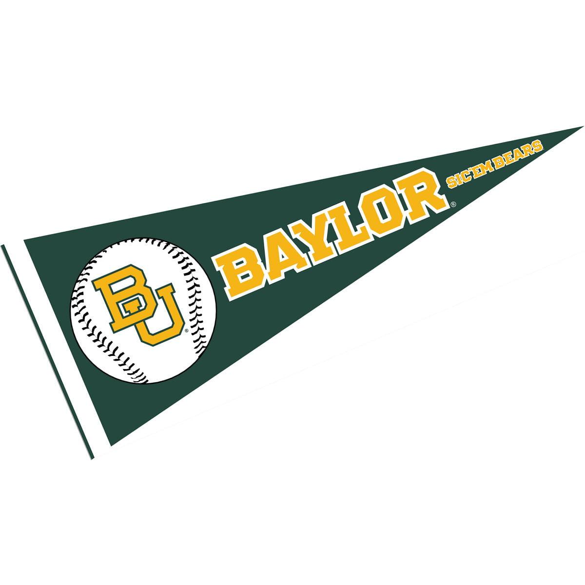 """Baylor Bears Baseball 12"""" X 30"""" Felt College Pennant"""