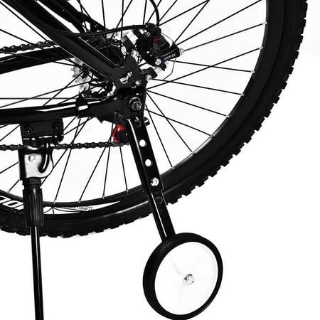 WALFRONT Variable Speed Bicycle Training Wheels Adjustable for Kids Bikes 16  to 22 , Bie Side Wheels,Training Wheels