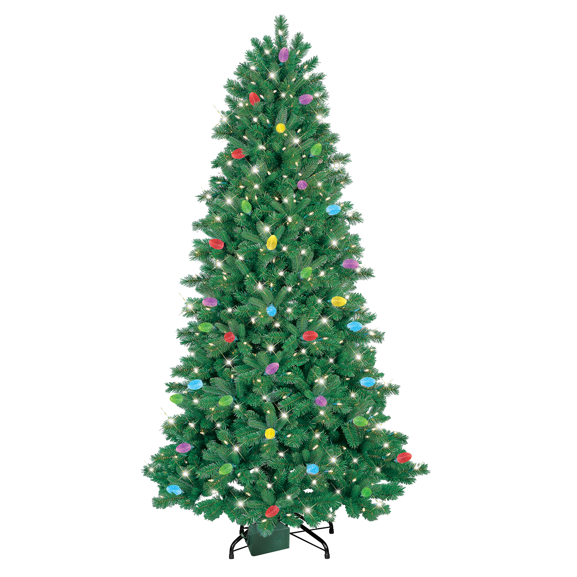 GE iTwinkle Pre-Lit 7.5' LED Artificial Christmas Tree, Clear ...