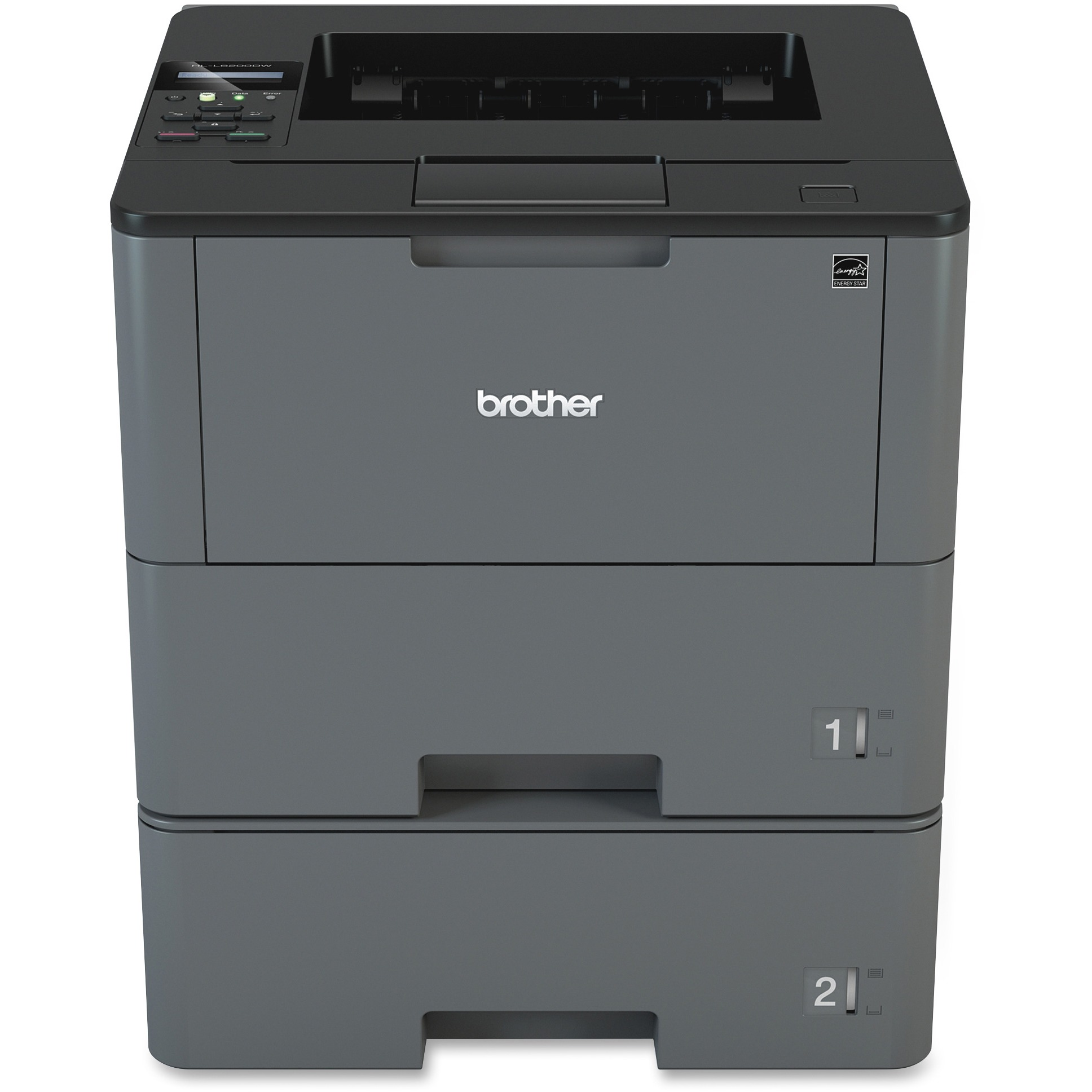 Brother Monochrome Laser Printer, HL-L6200DWT, Duplex Printing, Mobile Printing, Dual Paper Trays, Wireless Networking