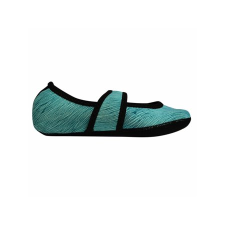 Women's NuFoot Mary Jane Indoor Non Slip Soles Stretch Slippers -