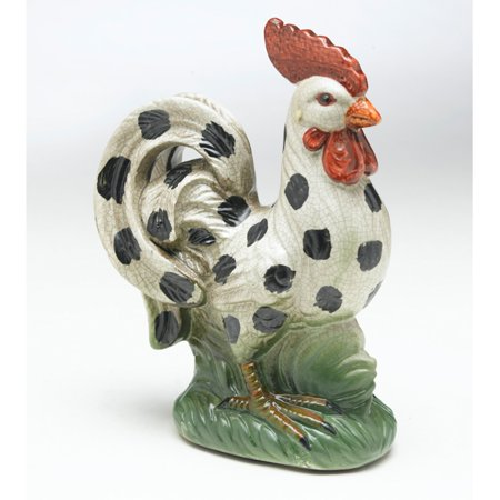 AA Importing Hand Painted Rooster - Hand Painted Block