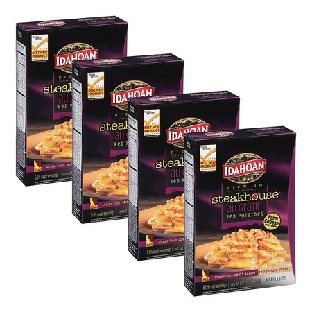 ((4 Pack) Idahoan Premium Steakhouse Au Gratin Red Potatoes, 5.03 oz)