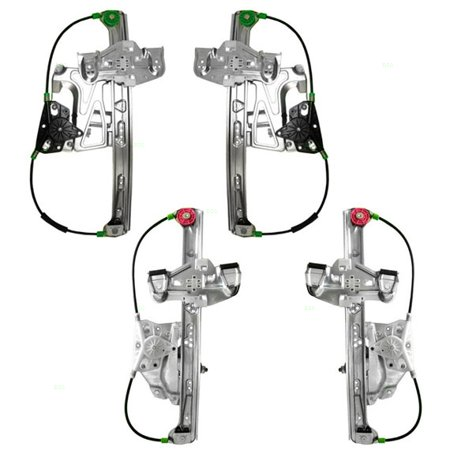 Cadillac Window Motor (Set of 4 Power Window Regulators with Motors Replacement for Cadillac 17801304 17801303 19244838)