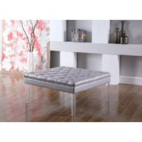 "18"" in GRAY DIAMOND TUFTED COFFEE TABLE"