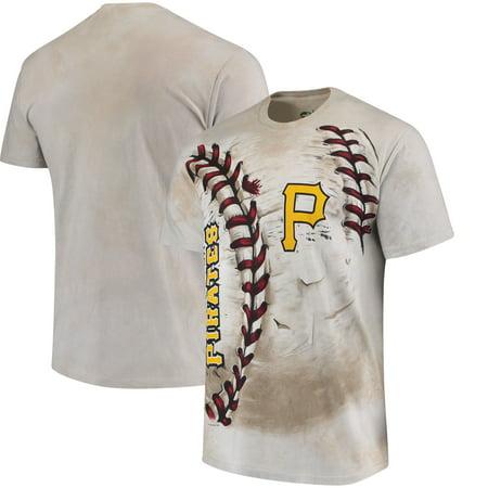 Pittsburgh Pirates Hardball Tie-Dye T-Shirt - Cream