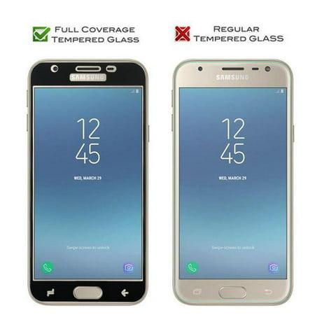 2-Pack Samsung Galaxy J3 2018/J3 Star/J3 Orbit/J3 V 3rd Gen/J3 Achieve/Express Prime 3/Amp Prime 3 Temper Glass Screen Protector, [Full Screen Coverage] Black - image 1 of 2