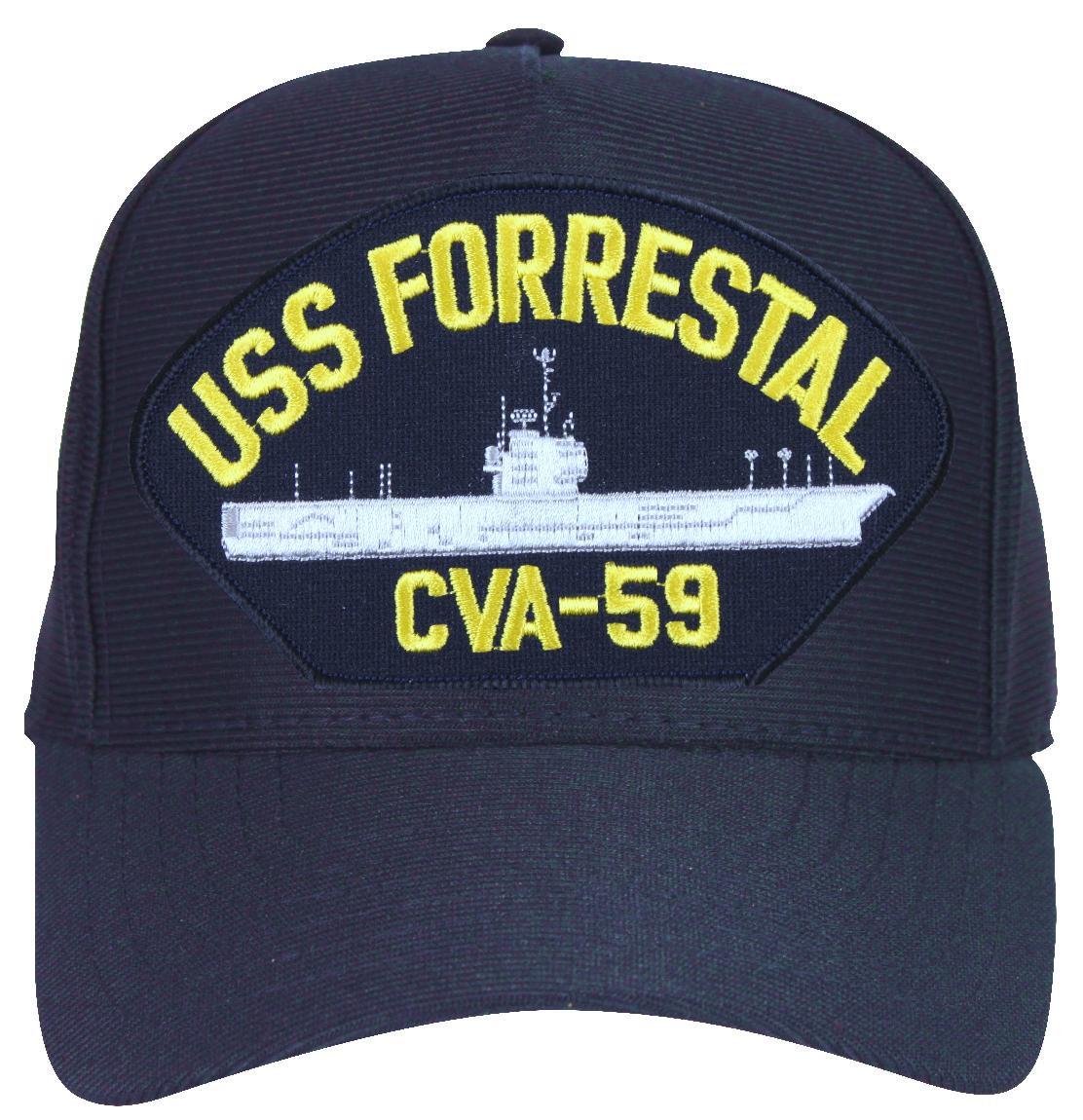 USS Forrestal CVA-59 Ships Ball Cap - Walmart.com 3c7c232e923