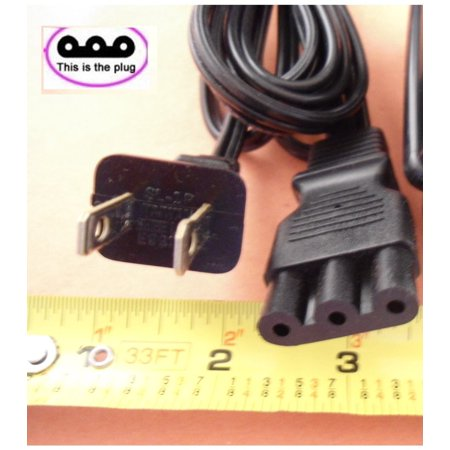 - POWER LEAD CORD SMALL 3-PRONG PLUG fits JANOME NEW HOME SEWING MACHINE