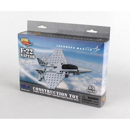 Daron F-22 Best Lock Construction Toy (85 Piece)