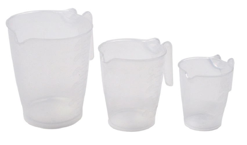Home Plus H110602 Measuring Cup Set, Plastic, Clear by