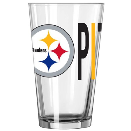 Pittsburgh Steelers Rocks Glass - Pittsburgh Steelers 16oz. Overtime Pint Glass - No Size