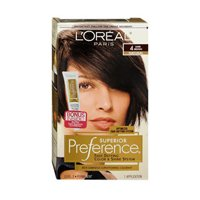 L'Oreal Paris Superior Preference Permanent Hair Color, 4 Dark Brown (Pack of 3)