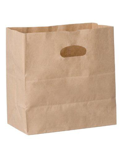 Duro ID# 84245 Die Cut Handle Bag 40# Natural Kraft 500pk...
