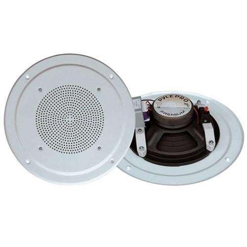 Pyle PDICS64 - 150 W PMPO Speaker - 2-way - 1 Pack - White - 8 Ohm - In-wall