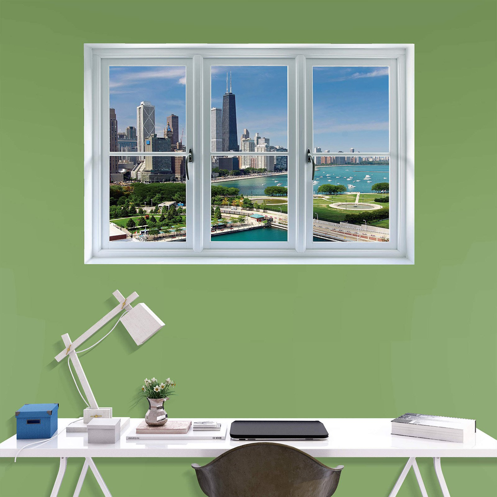 Fathead Chicago Skyline Instant Window Wall Decal