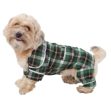 Green Plaid Dog Pajamas - Ewok Dog Costume Pattern