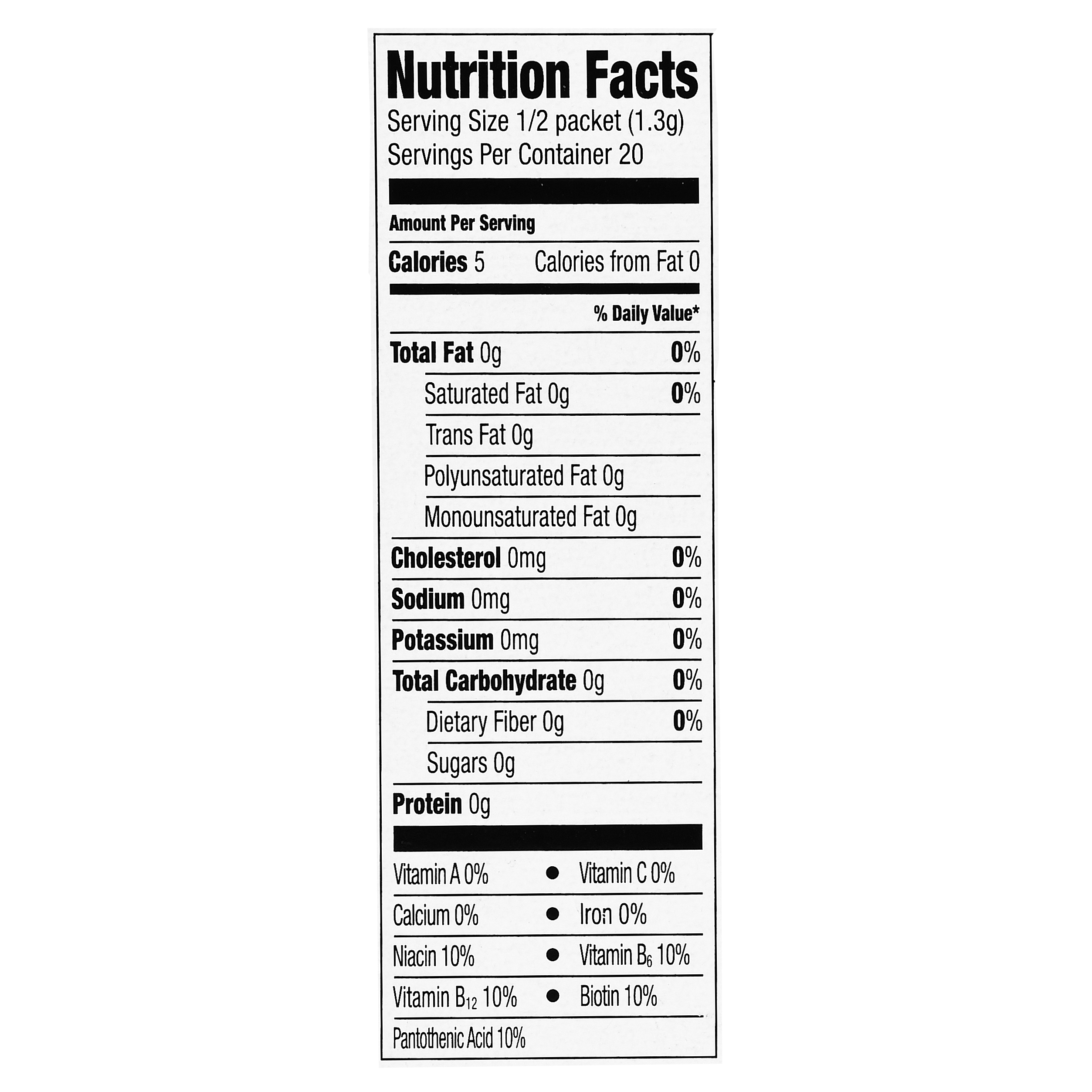 Jolt Energy Drink Nutrition Facts