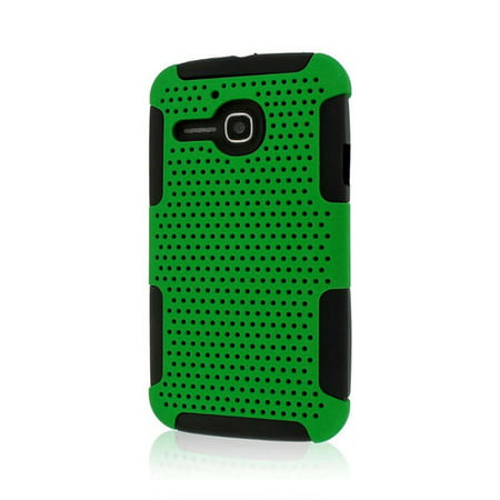 Alcatel OneTouch Evolve Case, Fusion M Hybrid Cover, Green](Lower Case M)