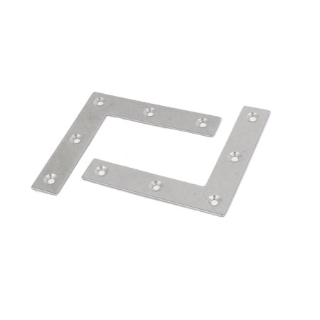 80mm x 80mm x 1.5mm Stainless Steel 90 Degree L Shaped Angle Brackets 2 Pcs