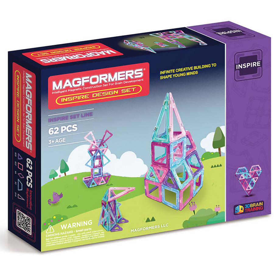 Magformers Inspire Design 62-Piece Magnetic Construction Set