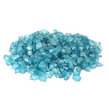 blue water glitter glass stones for fairy garden faux ocean, lake or river scene - Fairy Stained Glass