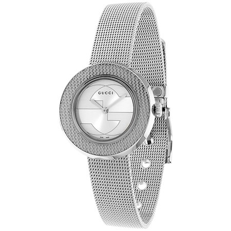 Gucci Women's U-Play Watch Quartz Sapphire Crystal YA129407 Sapphire Crystal Watch Glass