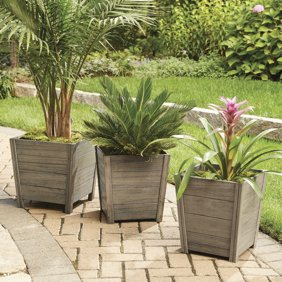 Outdoor Planter Better homes and gardens camrose farmhouse outdoor planter medium better homes and gardens cane bay outdoor planter medium workwithnaturefo