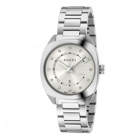9486febc840 Gucci - Women s YA142403 Silver Stainless-Steel Swiss Quartz Fashion Watch  - Walmart.com
