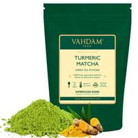 VAHDAM, Turmeric Matcha Green Tea Powder, Superfood Matcha Powder, 3.53oz