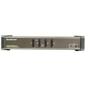 4PORT USB 2XVGA USB KVM SWITCH DUAL VIEW AUDIO PERP SHARING TAA