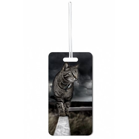 Accessory Avenue Alley Cat Standard Sized Hard Plastic Double Sided Luggage Identifier - Accessory Alley