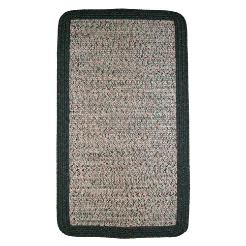 Thorndike Mills Town Crier Green Heather with Green Solids Indoor/Outdoor Rug