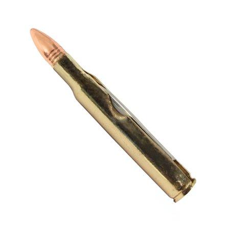 Folding Rifle - .308 Long Range Rifle Bullet Shaped Folding Pocket Knife Hunting Camping Gift