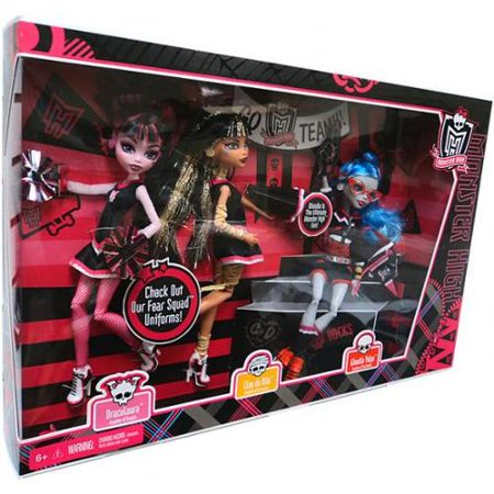Monster High Ghoul Spirit Draculaura, Cleo de Nile & Ghoulia Yelps Doll 3-Pack](Cleo De Nile)