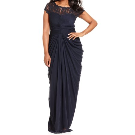 miss yoke midi t deal papell dress drape illusion this lace shop drapes gown don adrianna