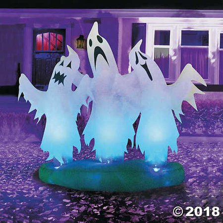 Inflatable Trio of Floating Ghosts Halloween Décor - Halloween Trios
