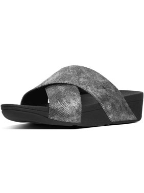 733a53d28 Product Image FitFlop Womens Lulu Cross Slide Shimmer