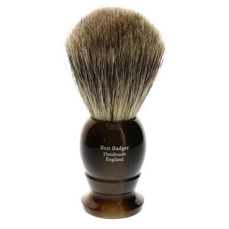 Edwin Jagger Best Badger Shaving Brush, Medium, Imitation Light Horn