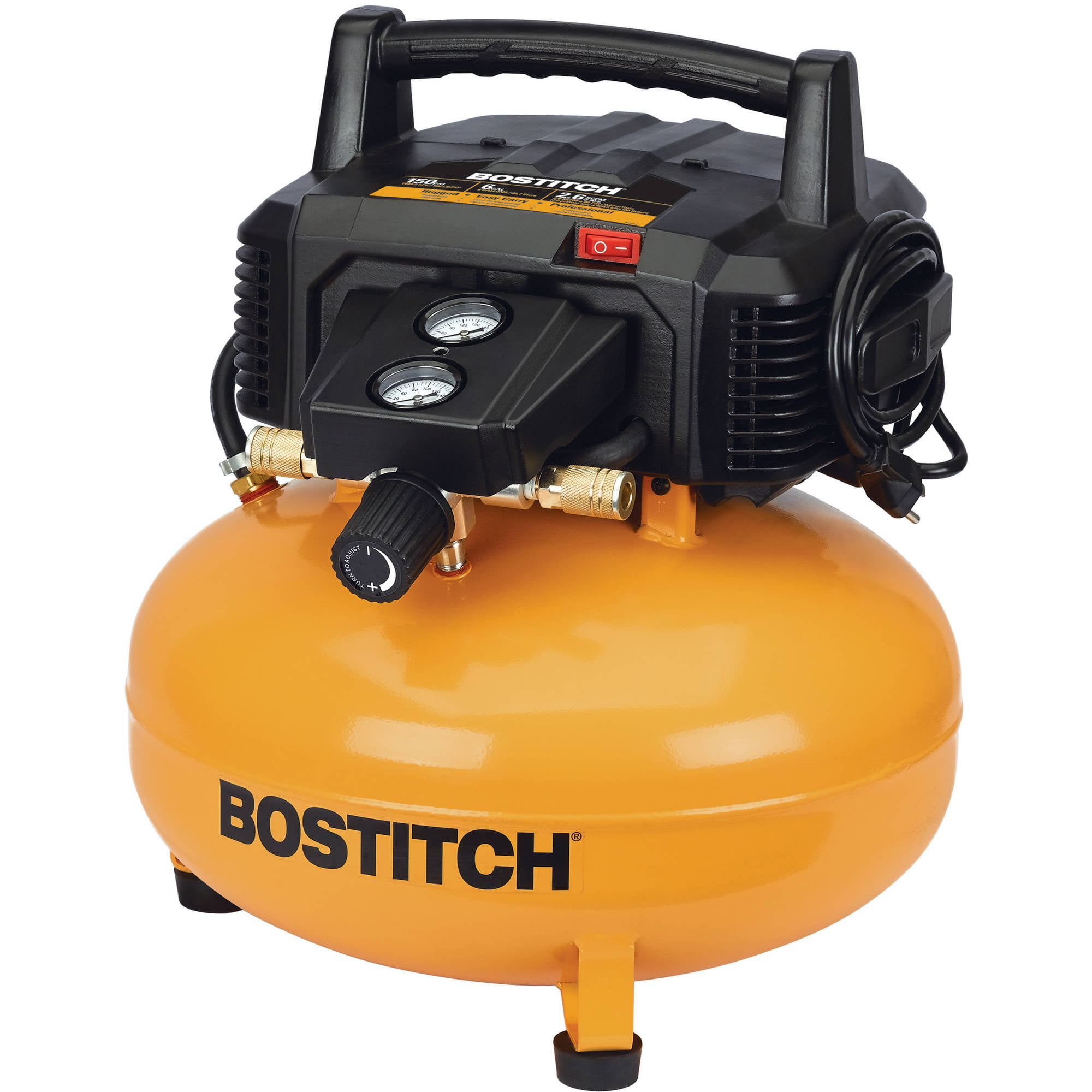 bostitch btfp02012 6 gallon pancake compressor walmart com rh walmart com